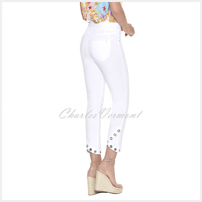 Robell Rose 09 - 7/8 Cropped Trouser 51666-5499-10 (White)