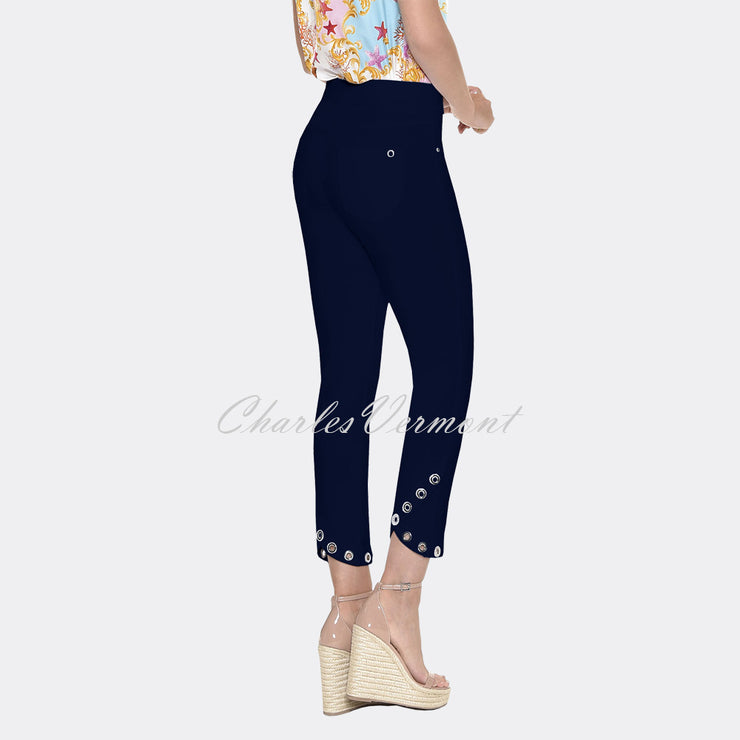 Robell Rose 09 - 7/8 Cropped Trouser 51666-5499-69 (Navy)