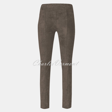 Robell Rose Full Length Super Slim-Leg Trouser 51673-54451-38 (Almond Faux Suede)