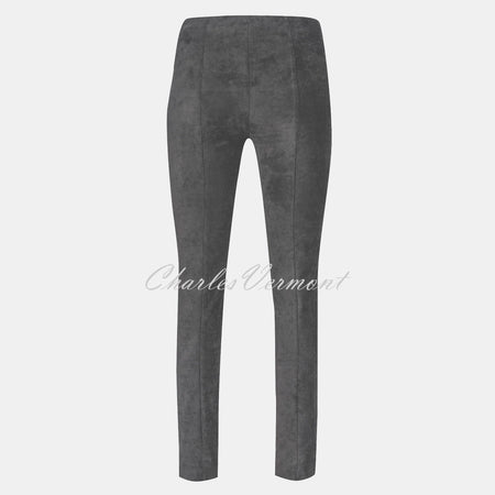 Robell Rose Full Length Super Slim-Leg Trouser 51673-54451-95 (Grey Faux Suede)