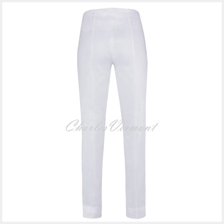 Robell Rose Full Length Super Slim Trouser 51673-5499-10 (White)