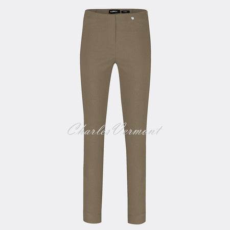 Robell Rose Full Length Super Slim Trouser 51673-5499-17 (Taupe)