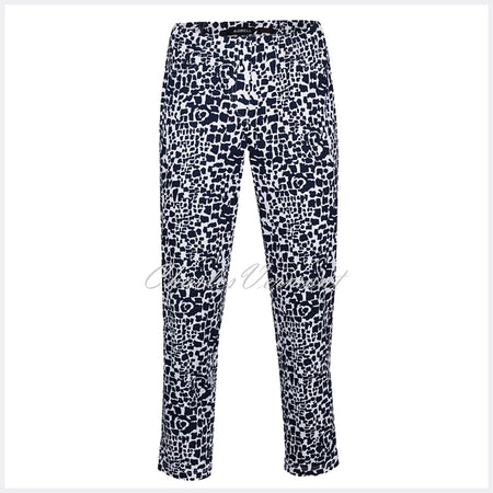 Robell Bella 09 - 7/8 Cropped Trouser 51692-54262-69 (Abstract Animal Print)