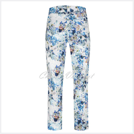 Robell Bella 09 - 7/8 Cropped Trouser 51692-54513-12 (Floral Print)