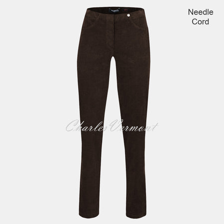Robell Bella Full Length Trouser 52457-54363-38 (Brown Needle Cord)