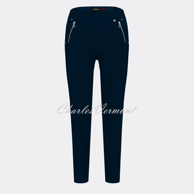 Robell Nena 09 – 7/8 Cropped Trouser 52490-5499-69 (Navy)