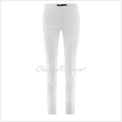 Robell Bella Jean 52560-5448-10 (White Denim) – SHORTER LENGTH 29""
