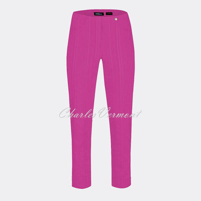 Robell Bella 09 Seersucker - 7/8 Cropped Trouser 52642-54554-550 (Orchid Pink)
