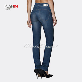 Salsa 105503 Slim Fit Straight Jeans - Regular (Medium Blue)