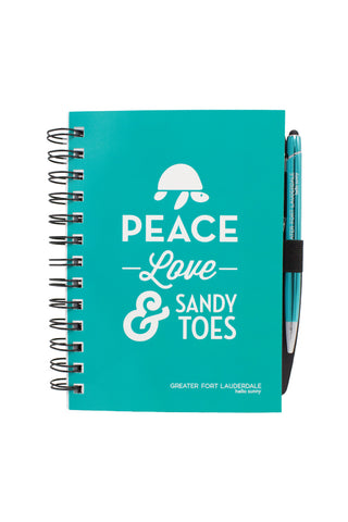 Journal with Pen - Peace Love & Sandy Toes