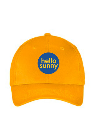 Hello Sunny Six-Panel Unstructured Twill Cap