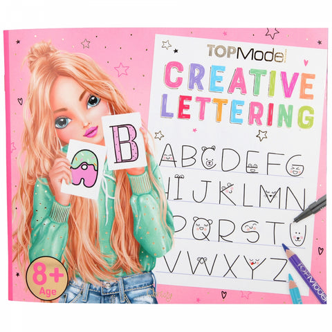 TOPModel Creative Writing Lettering Colouring Book