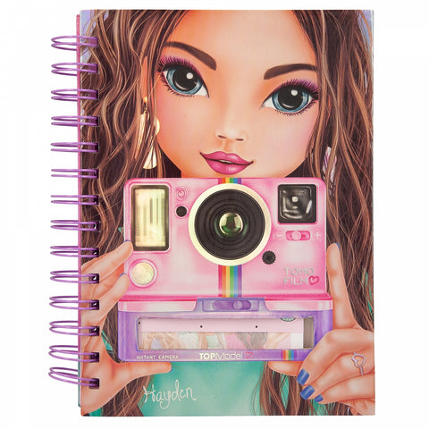 TOPModel Notebook With Selfie Notes Candy Cake