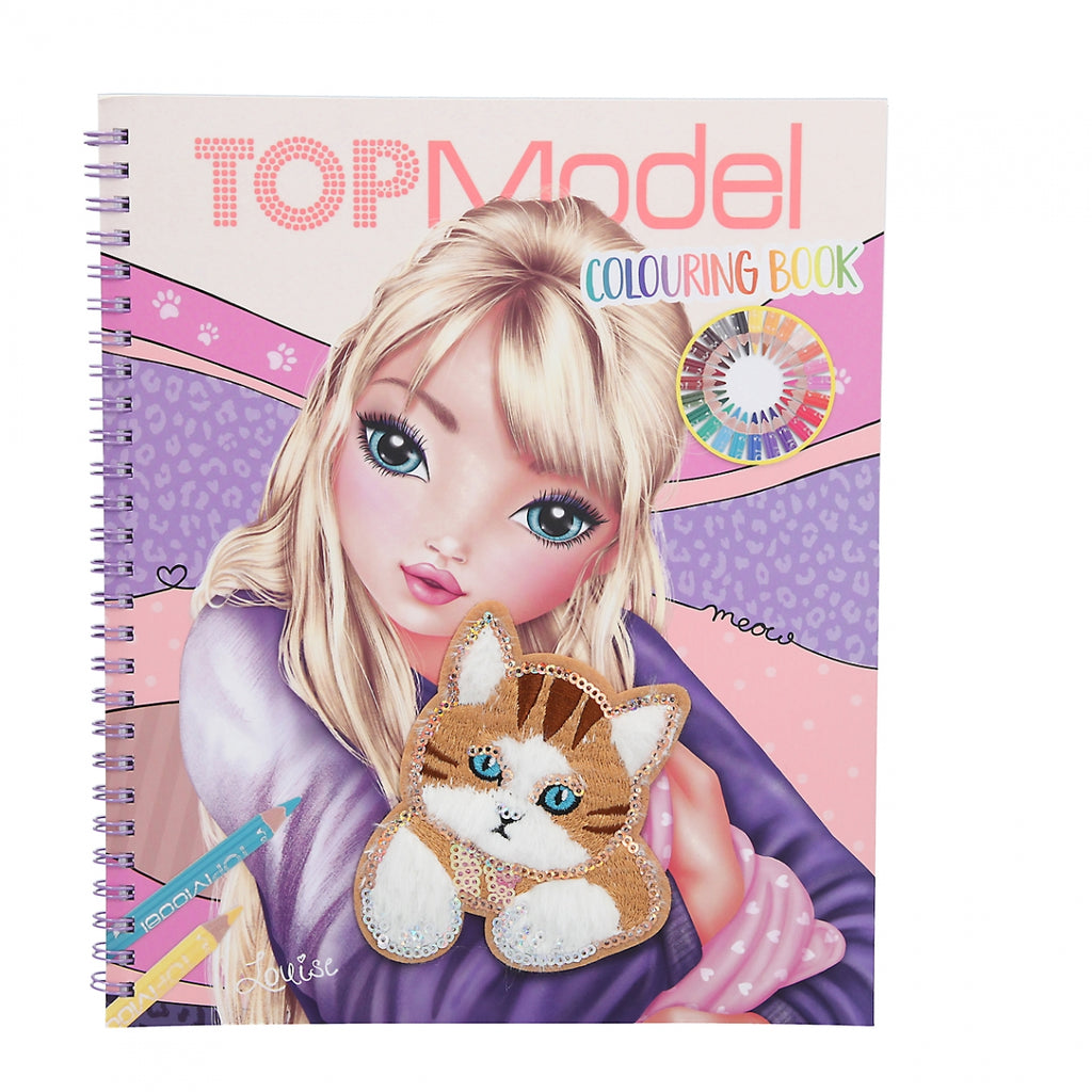 TOPModel Cat Colouring Book