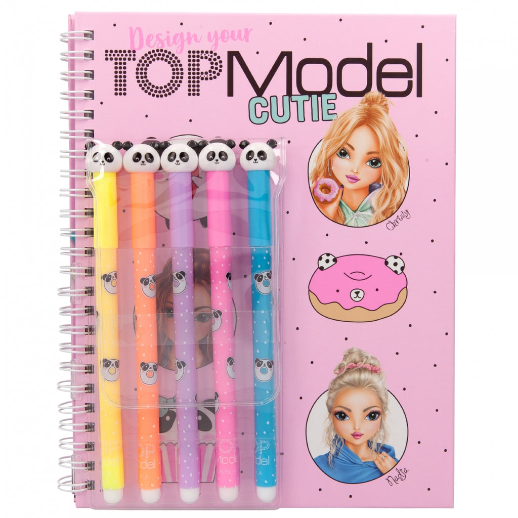 TOPModel Colouring Book With Felt Pens Candy Cake