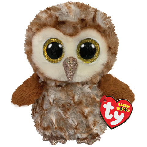 Percy Brown Tipped Owl Beanie Boo TY