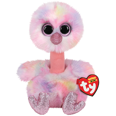 Avery Pink Pastel Ostrich Beanie Boo TY