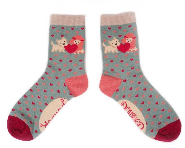 Powder Puppy Love Ankle Socks