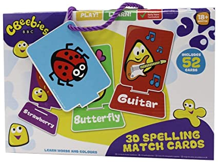 CBeebies 3D Spelling Match Cards