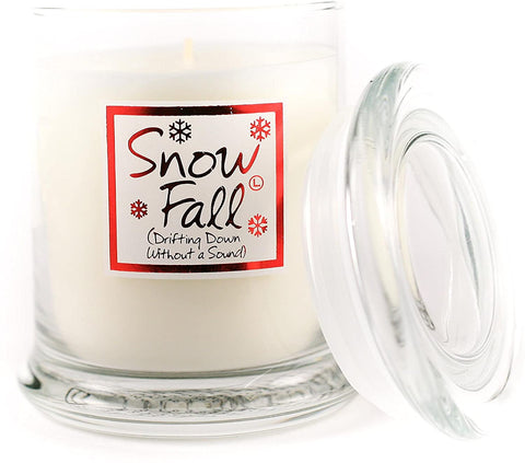 Lily-Flame Snowfall Scented Candle Jar