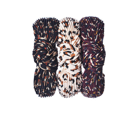 Pleated Leopard Print Headband SS21