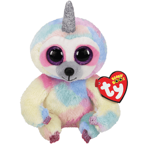 Cooper Sloth with Horns Beanie Boo TY