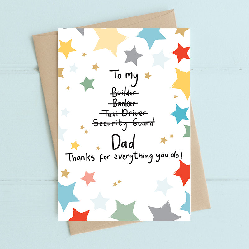 Dad, thanks for everything card