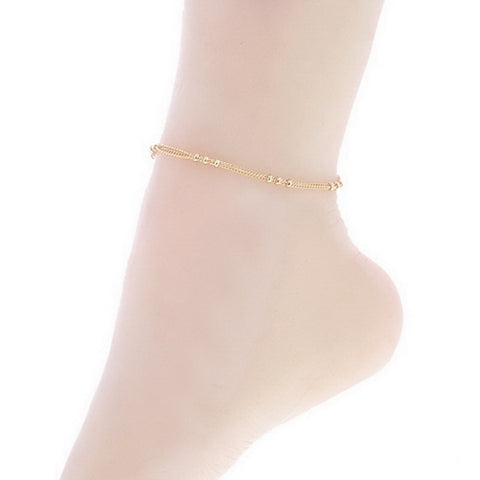Gold Tone Chain Anklet