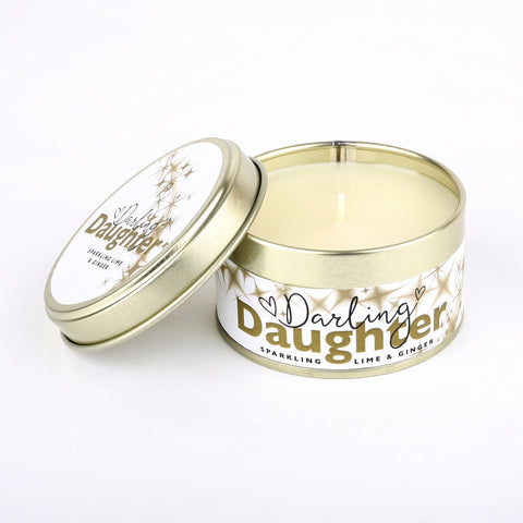 Pintail 'Darling Daughter' Sparkling Lime & Ginger Candle Tin