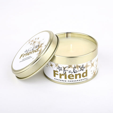 Pintail 'Fab Friend' Peppered Pomegranate Candle Tin