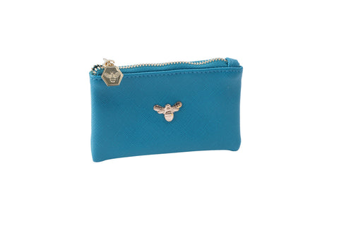 Beekeeper Coin Purse in Teal