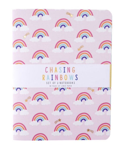Set of 2 A6 Rainbow Notebooks