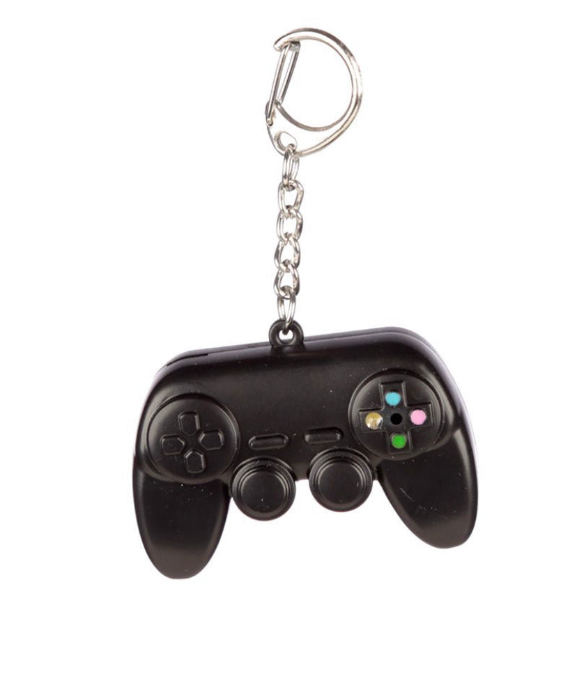 Game Console Light Up LED Keyring with Sound