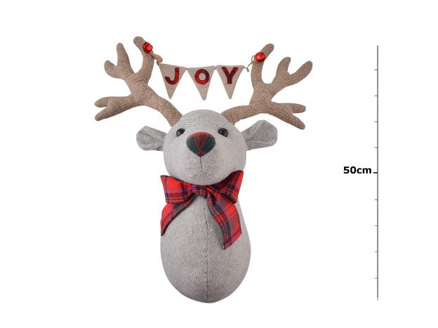 Joy Bunting Reindeer Wall Head