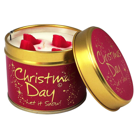 Lily-Flame Christmas Day Scented Candle Tin