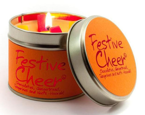 Lily-Flame Festive Cheer Scented Candle Tin