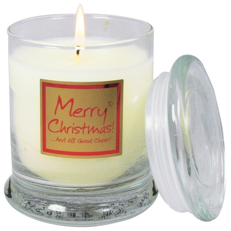 Lily-Flame Merry Christmas Scented Candle Jar