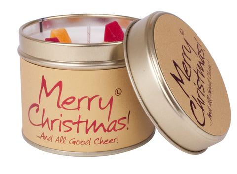 Lily-Flame Merry Christmas Scented Candle Tin