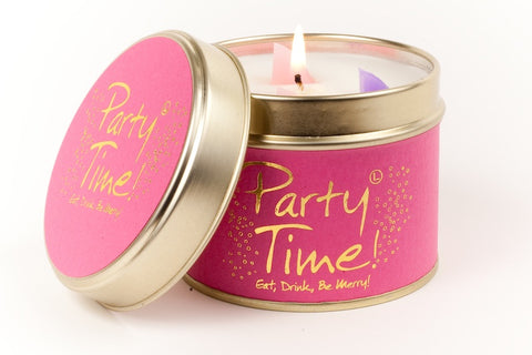 Lily-Flame Party Time! Scented Candle Tin