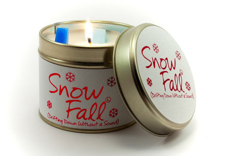 Lily-Flame Snowfall Scented Candle Tin