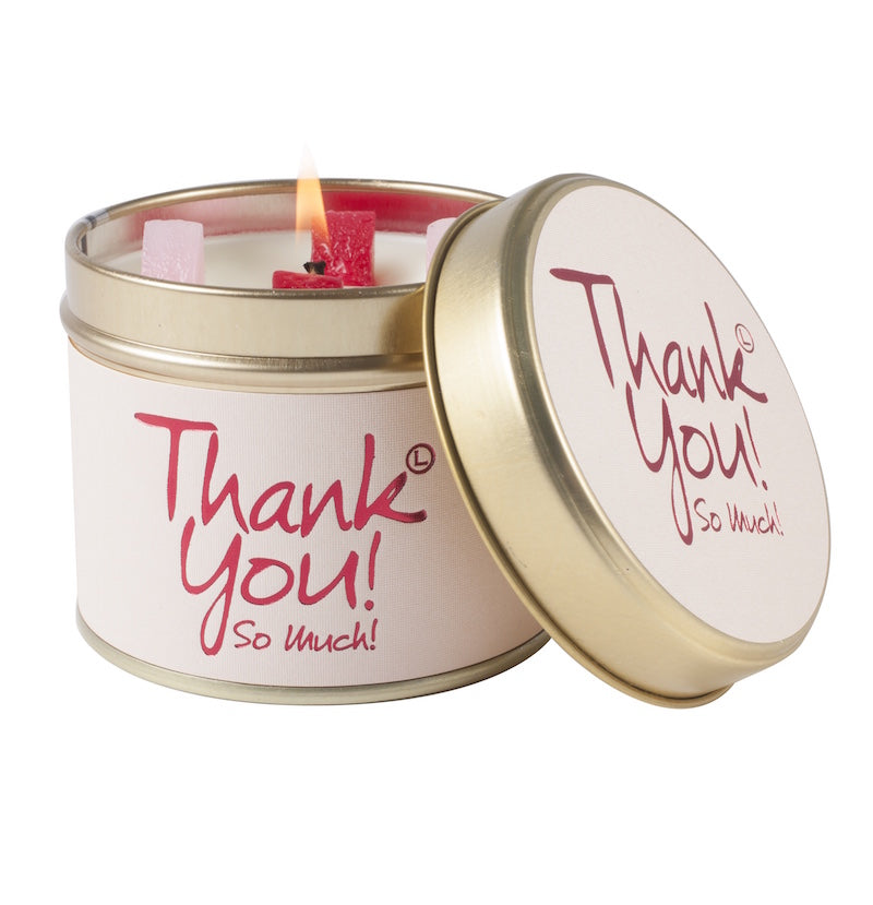 Lily-Flame Thank You! Scented Candle Tin