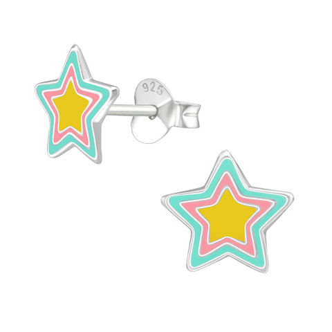 Children's Star 925 Sterling Silver Stud Earrings