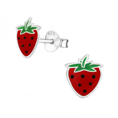 Strawberry 925 Sterling Silver Stud Earrings