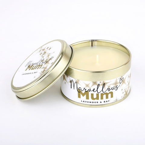 Pintail 'Marvellous Mum' Lavender & Bay Candle Tin
