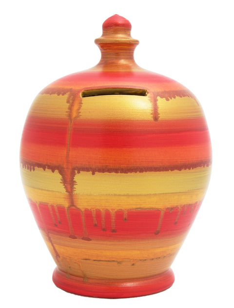 Terramundi Slick Orange And Gold Pot
