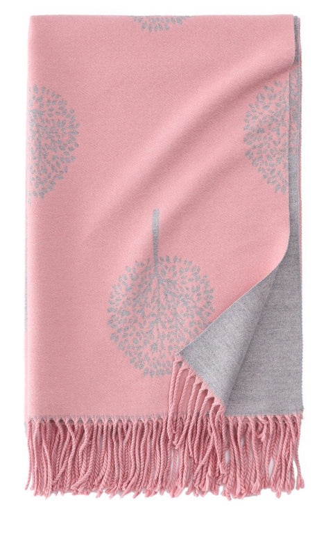 Tree of Life Scarf in Baby Pink