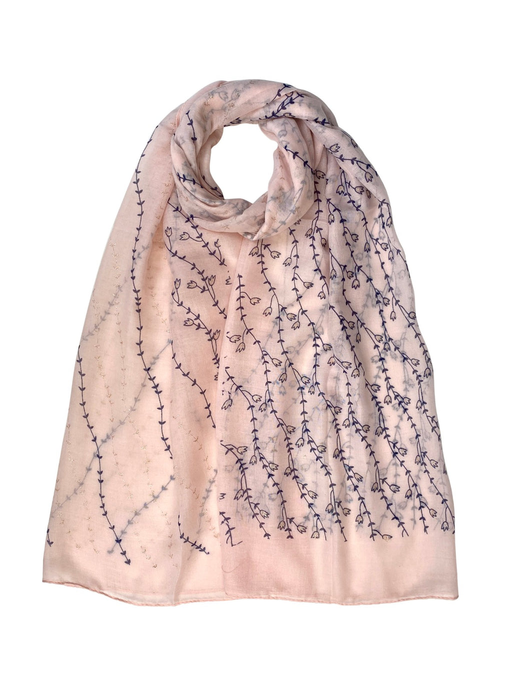 Bluebell Print Scarf Baby Pink