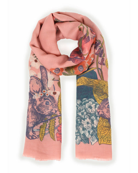 Powder Country Side Print Scarf