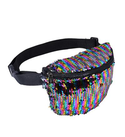 Rainbow Sequin Bum Bag