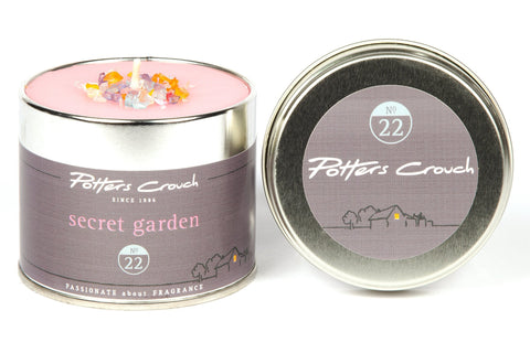 Potters Crouch Secret Garden Scented Candle Tin